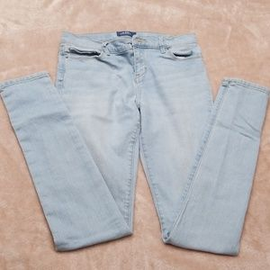 Old Navy light blue jeans.